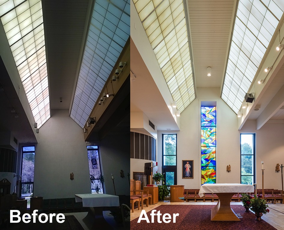 Corpus Christi Catholic Church Sanctuary Before and After