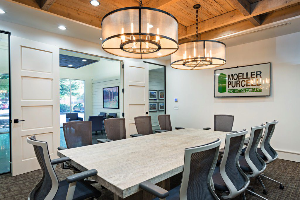 Inside Moeller Purcell Construction Company Office Conference Room