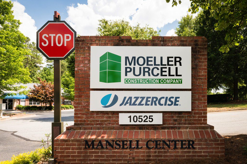Moeller Purcell Construction Company Office Entrance Sign