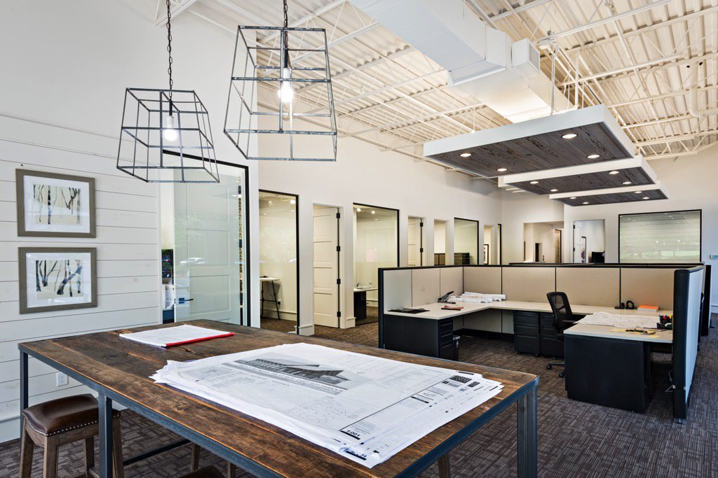 Moeller Purcell Construction Company Design Area and Private Offices