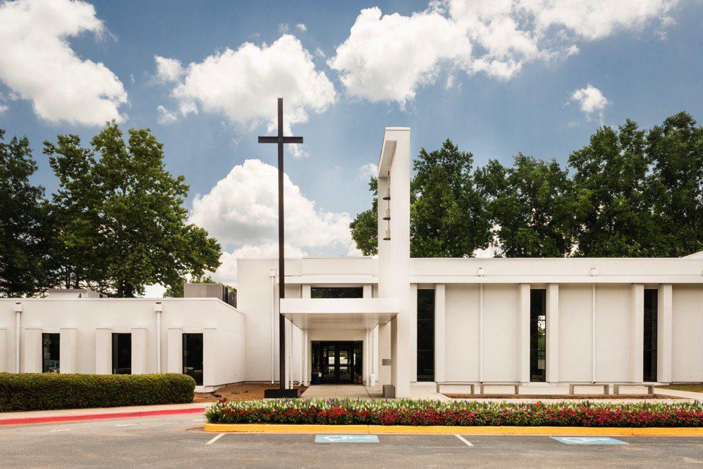 Corpus Christi Catholic Church Front Entrance