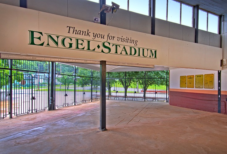 Engel Stadium Exit