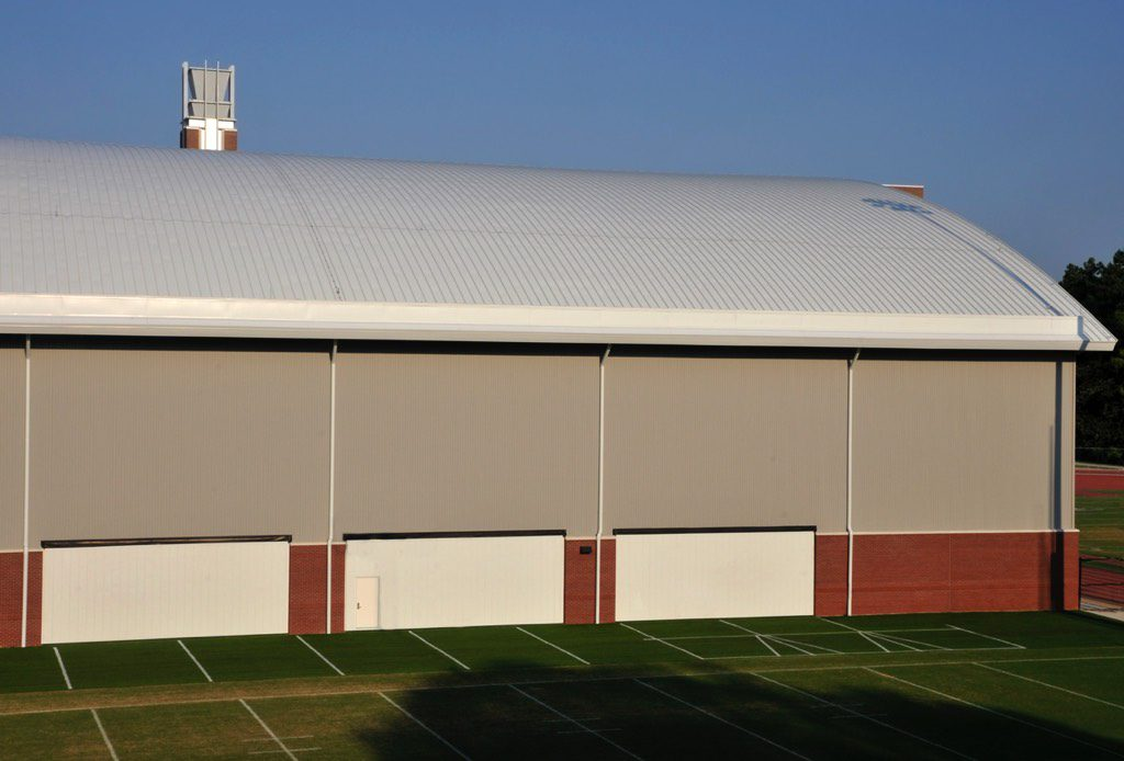 Georgia Tech Indoor Football Practice Facility Elevated Eastern View