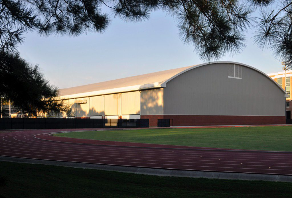 Georgia Tech Indoor Football Practice Facility North View from Track
