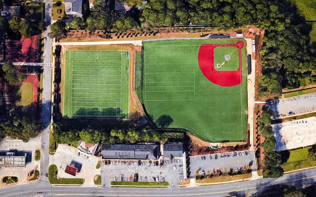 St. Pius X Catholic High School Seaver Athletic Complex Aerial View