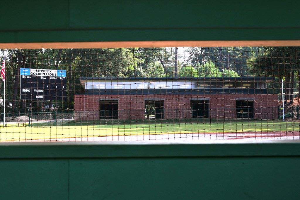 St. Pius X Indoor Baseball Facility Exterior View from Distance