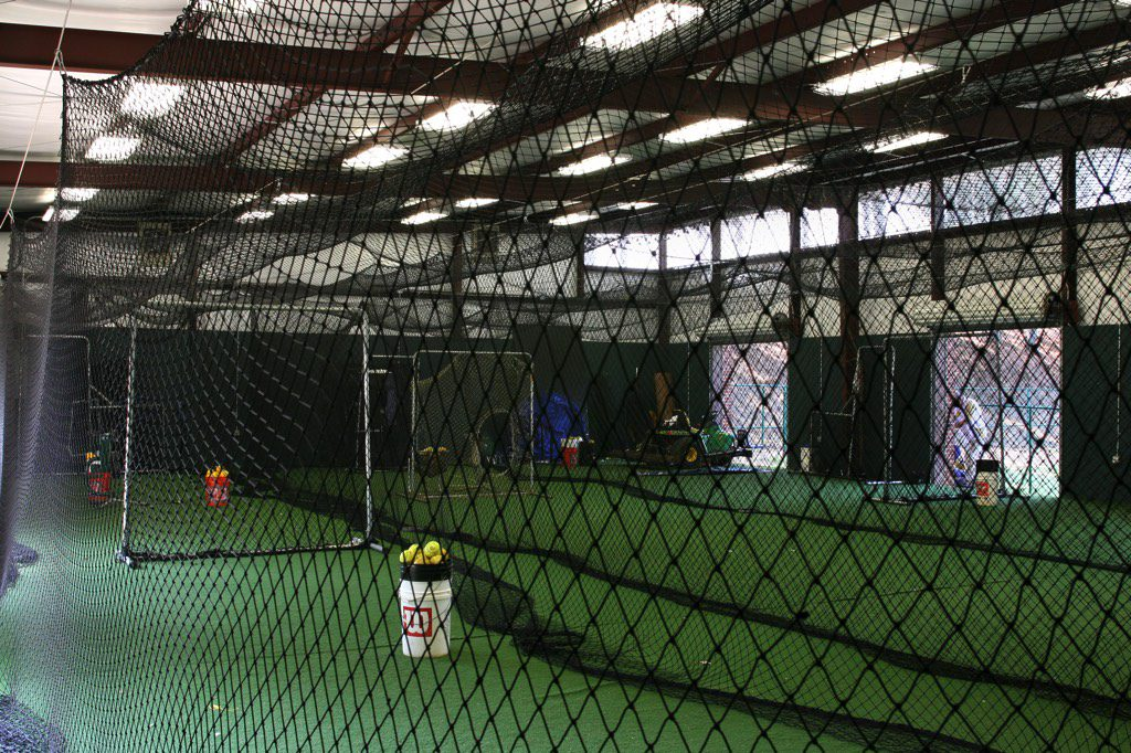 St. Pius X Indoor Baseball Facility Interior