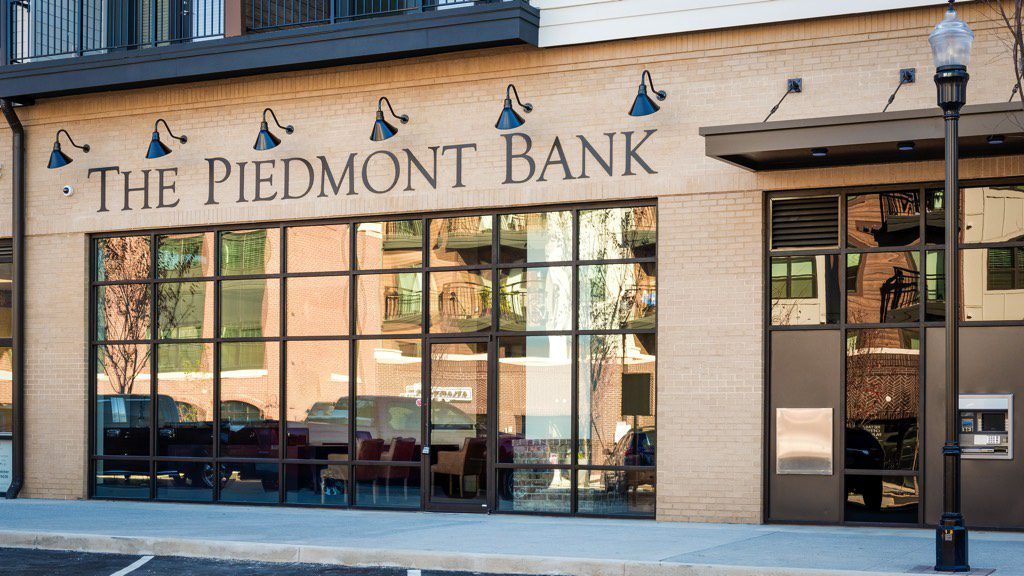 The Piedmont Bank Front Entrance