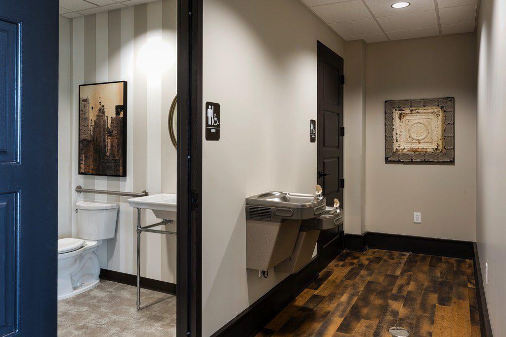 The Piedmont Bank Restroom Area
